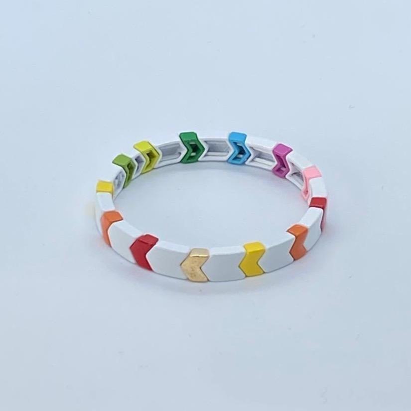 Coco & Jane Loves Rocky Road Small Bracelet White/Multi