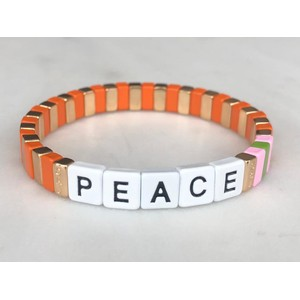 Charity Peace Bracelet Orange/Multi