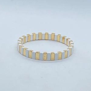 Coco & Jane Loves Gold & White Goals Bracelet Gold/White