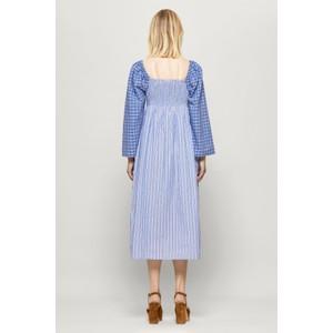 Baum Und Pferdgarten Avanee Stripe/Check Dress Blue