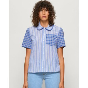 Mizzi Stripe/Check Blouse Blue