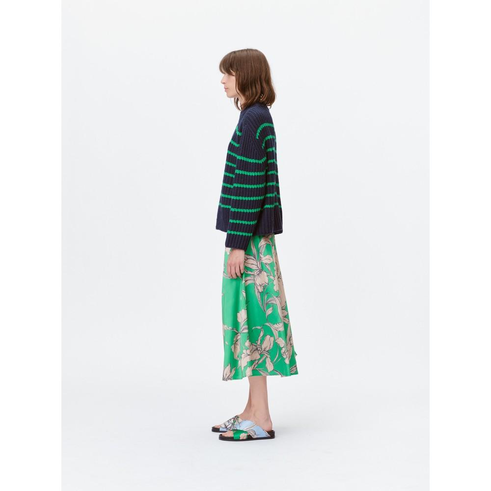 Munthe Tacuba Floral Silky Skirt Green/Camel