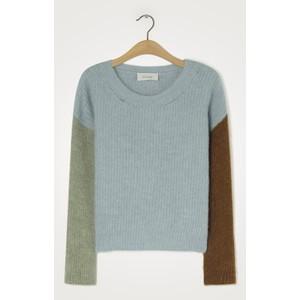 American Vintage East R/Nk Knit Sweater in Blue Sky Melange