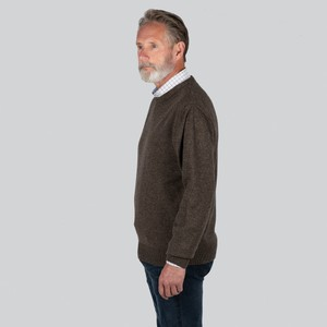 Schoffel Country Lambswool Crew Neck Mole