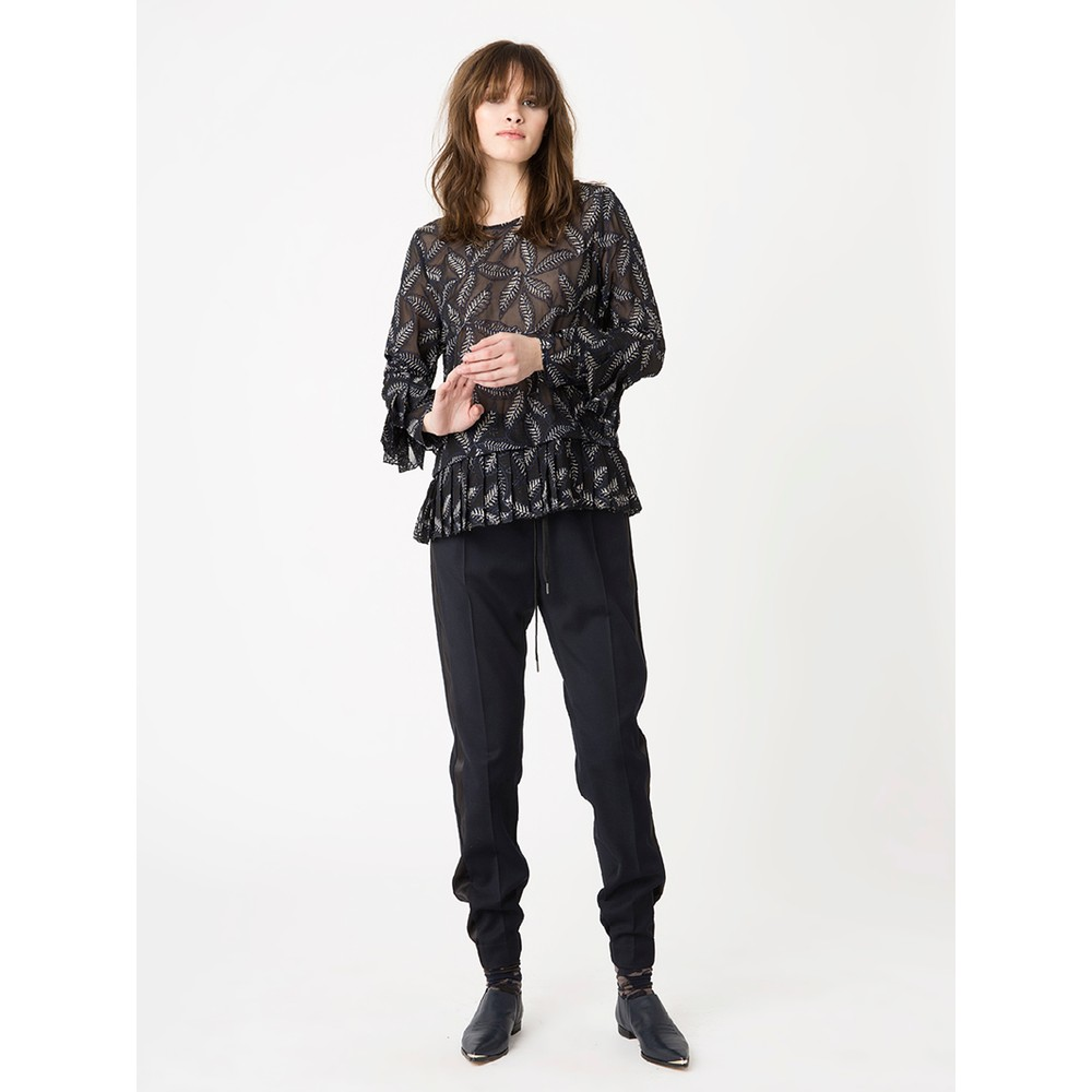 Munthe Onicia Trouser Sport Stripe Indigo/Black