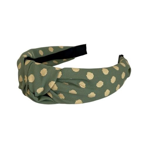 Black Colour Gaby Dot Headband Mint