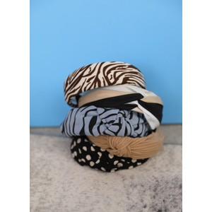 Black Colour Gaby Dot Headband Black