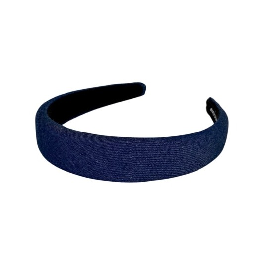 Black Colour Tine Denim Headband Denim