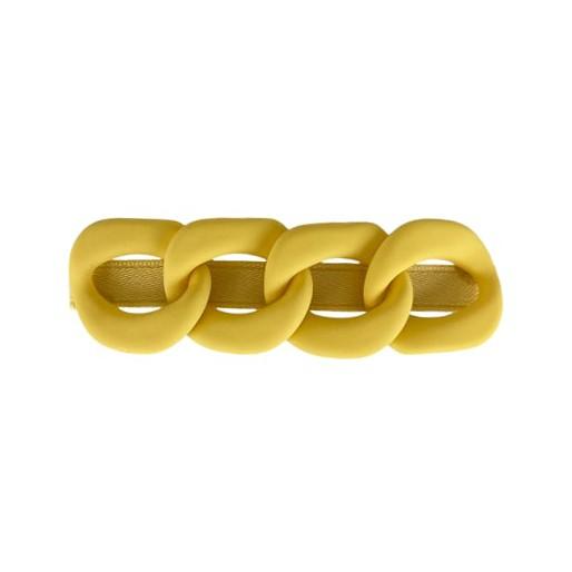 Black Colour Chain Matt Hairclip Yellow