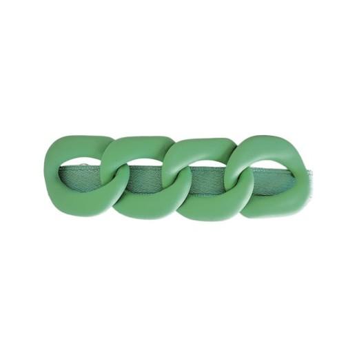 Black Colour Chain Matt Hairclip Apple