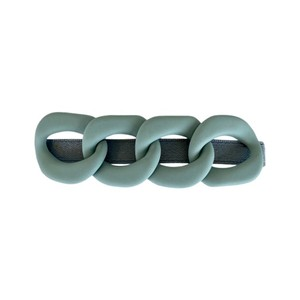 Black Colour Chain Matt Hairclip in Light Blue