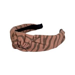 Black Colour Desire Zebra Headband in Pepe Rose
