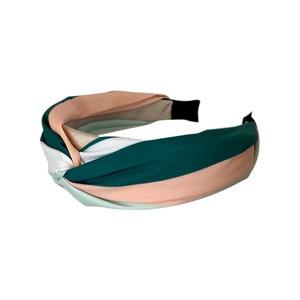 Black Colour Oline Striped Headband Mint