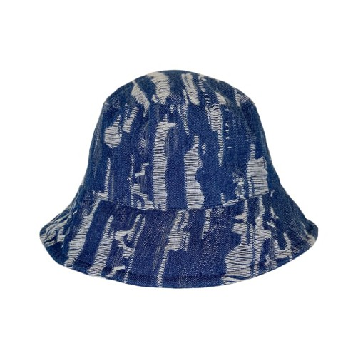 Black Colour Roxanne Fringe Bucket Hat Blue