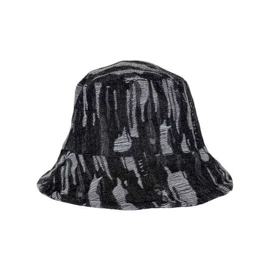 Black Colour Roxanne Fringe Bucket Hat Black