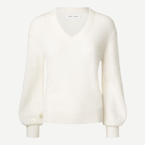 Jaci V-Neck Sweater Whisper White
