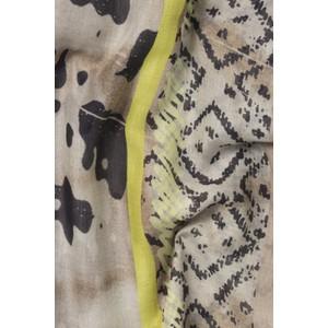 Luisa Cerano Fringed Modal Print Scarf Cream/Multi