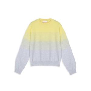 Cocoa Cashmere Ashley Fade Stripe Jumper Cloud/Yellow