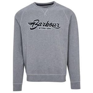 Barbour International Flyer Crew Neck Sweatshirt Anthracite Marl