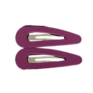 Black Colour Triangle Matt Hairclip Purple