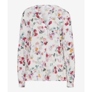 Vian Floral Geo Print Top White/Multi