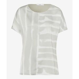 Brax Caelen Tie Dye Front S/S Top Light Olive/White