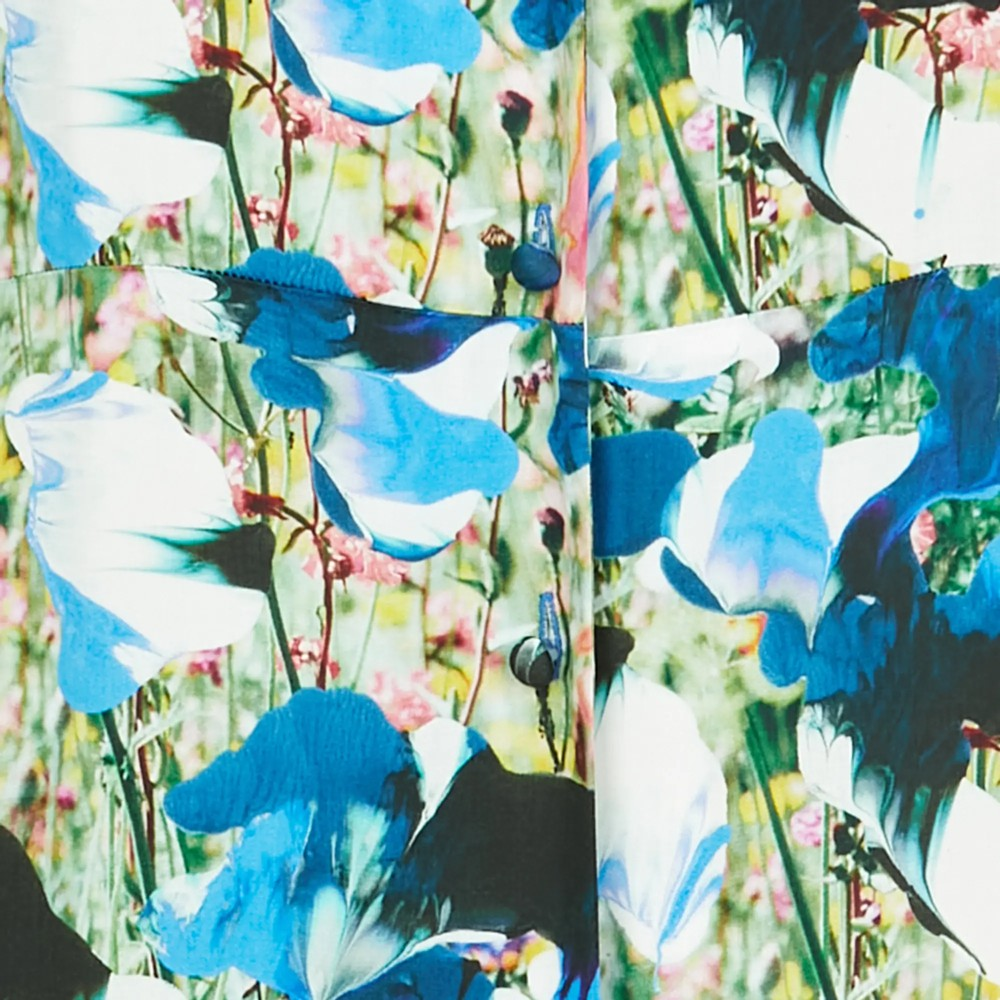 Paul Smith Womens Meadow Print S/S V/N Top Blue/Multi
