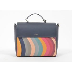 Paul Smith Accessories Top Handle Block/Swirl Bag Navy/Multi