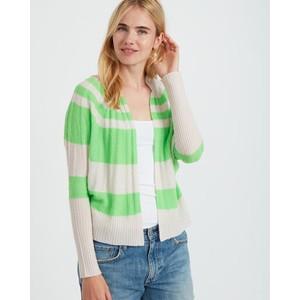 Stripe Cable Cardigan Neon Green/Plaster