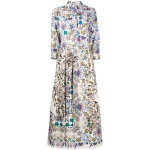 Elena Liberty Dress Anise Belt White/Multi