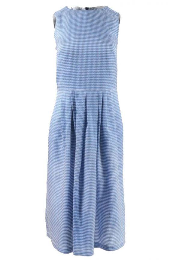 Paul Smith Womens S/L Gingham Dress Dark Blue