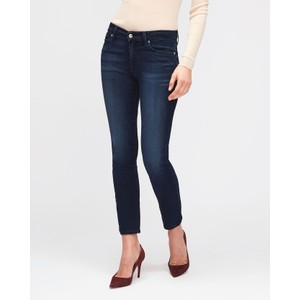 7 Fam Roxanne Mid Rise Crop Original Dark Blue
