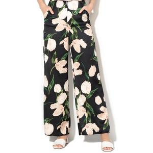 Marella Cresta Floral Trousers Black