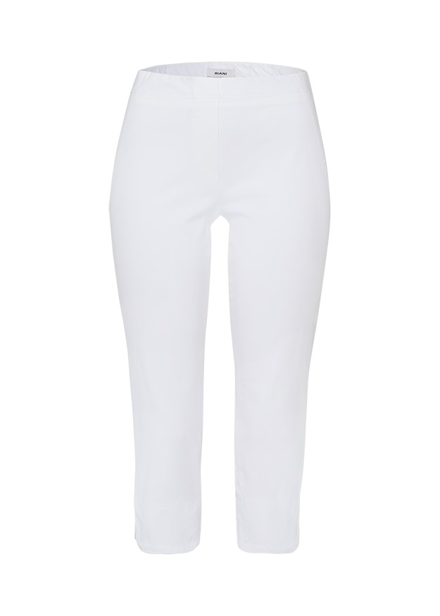 Riani Stretch Waist Capri Trouser White