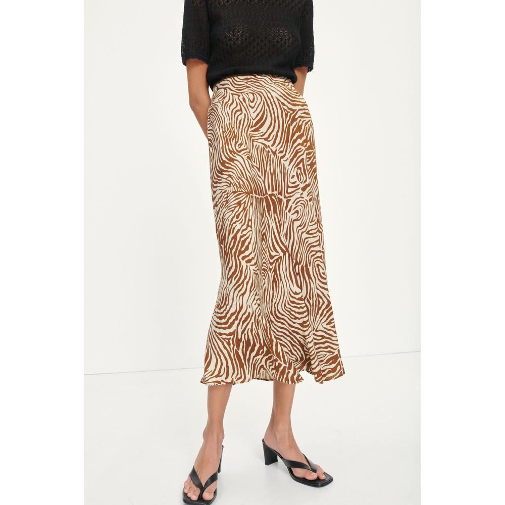 Samsoe Samsoe Alsop Zebra Print Skirt Mountain Zebra