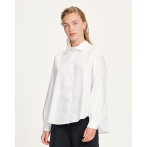 Rita Ruffle Collar Shirt White