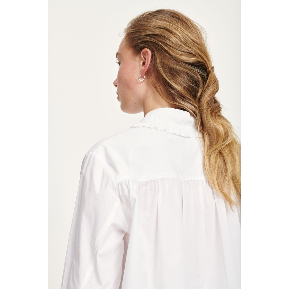 Samsoe Samsoe Rita Ruffle Collar Shirt White