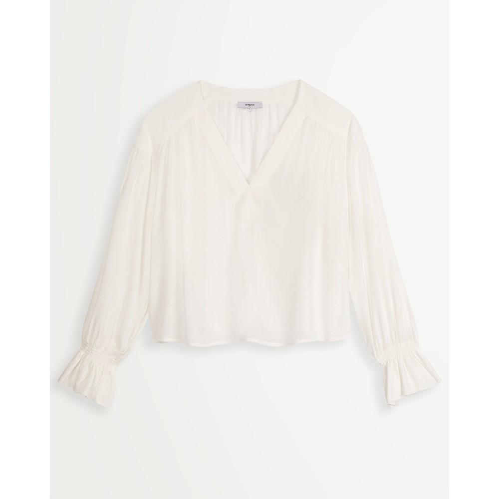 Suncoo Lila V/Neck Blouse with Vest Off White