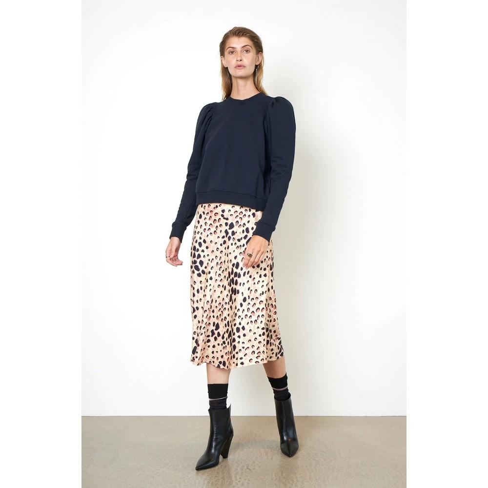 Second Female Amur Leopard Print Skirt Cement