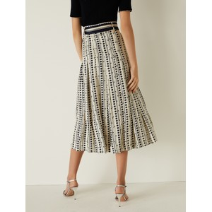 Marella Jinger Printed Pleat Culottes Off White/Dk Navy