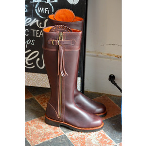 Long Tassel Leather Boots Conker