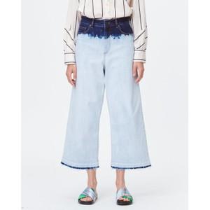 Ticiano Tie Dye Wide Jean Blue/Off White