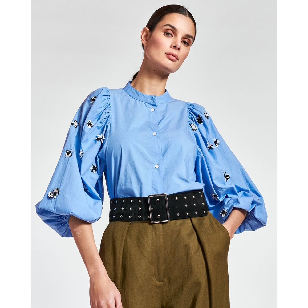 Essentiel Antwerp Zeatle Sequin Bug Slv Shirt Halogen