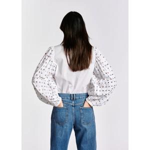 Essentiel Antwerp Zarmot Sequin/Bead Slv Shirt White/Multi