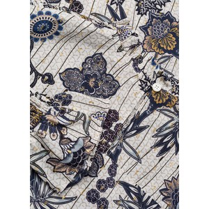 Riani Floral Frill Neck Pintuck Bls Multicolour