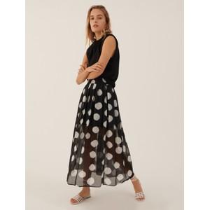 Marella Lia Spot Muslin Layer Skirt Black/White