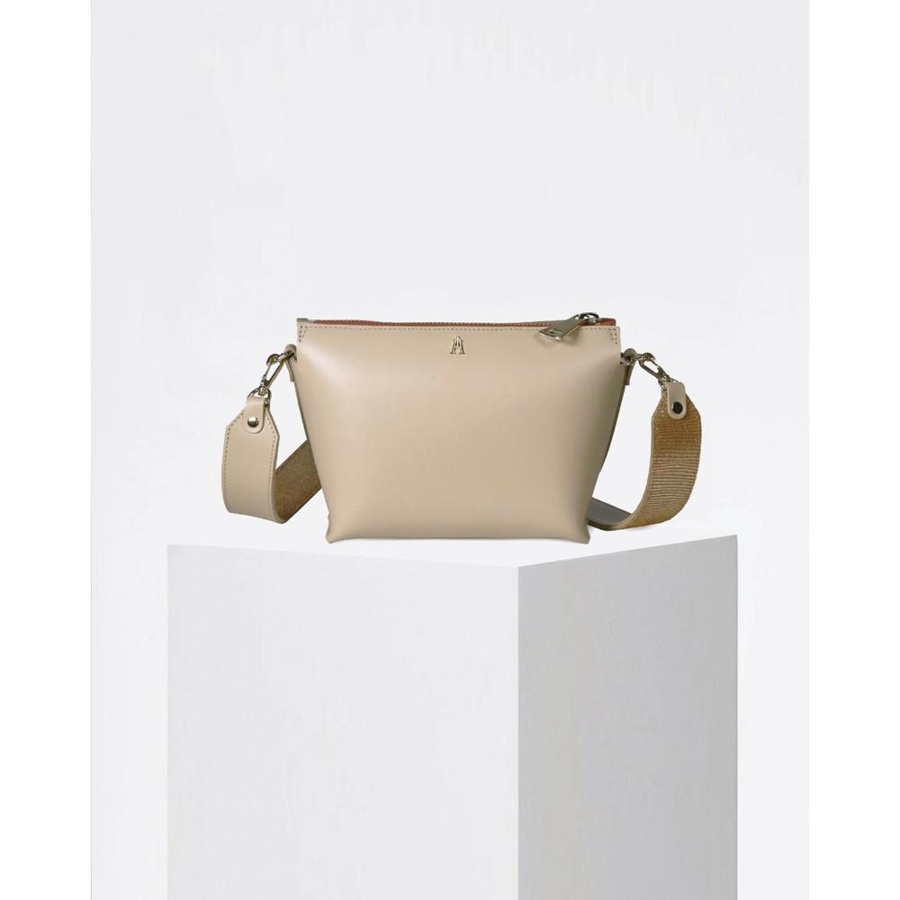 Craie Alchimie Contrast Strap Bag Latte Honey