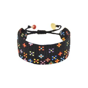 Dotsy Flower Bracelet Black/Multi