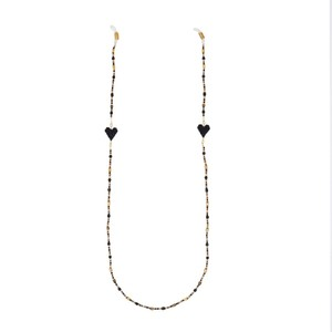 Love Drop Glasses Strap Black