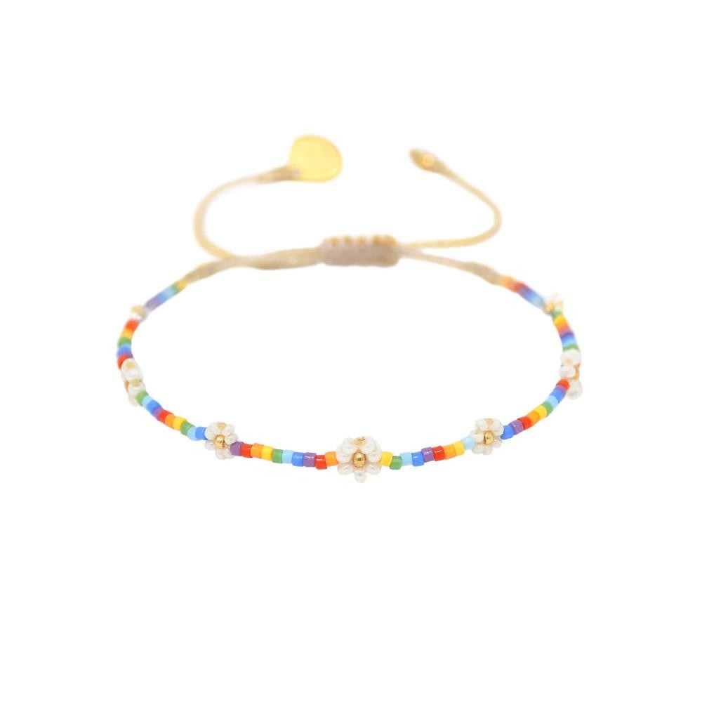 Mishky Rainbow Flower Bracelet Cream/Multi